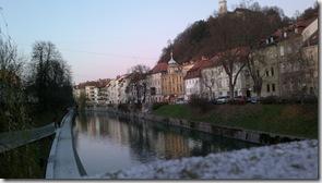 Desde el puente Cevljarski, Liubliana