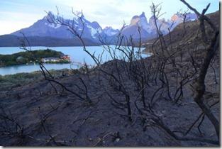 Torres del Paine quemadas, foto Efe