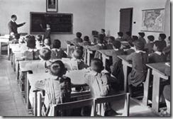 Escuela española años 50, foto AGA