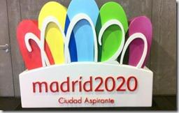 Logo Madrid 2020, foto Efe