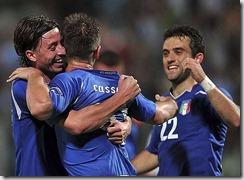 Cassano y Rossi que no estará