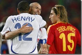 Zidane, Henry, Sergio Ramos, mundial 2006