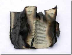 Nota de prensa quemada