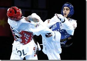 Final masculina de Taekwondo menos de 58 kg, foto agencias