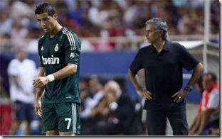 Cristiano y Mouriho, Foto Reuters