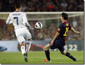Cristiano y Messi, foto Reuters