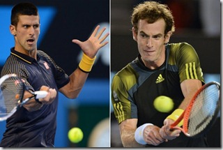 Djokovic vs Murray, foto AFP