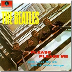 Please Please me, The Beatles, portada