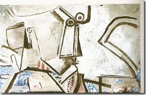 Mujer acostada y cabeza, el último Picasso