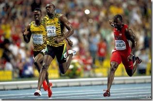 Final 100 metros mundiales Moscú 2013, foto Efe