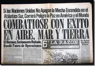 Prensa Guerra de las Malvinas 1