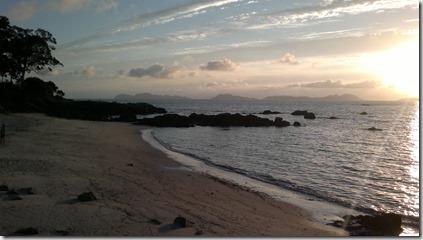 Ría de Vigo al atardecer