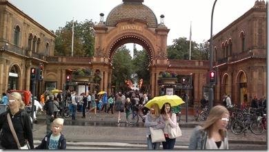 Tivoli, sábado tarde lloviendo