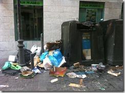 Madrid sucio y mal acostumbrado