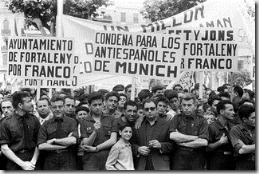 Manifestación contra el contubernio de Múnich en Valencia, 1962