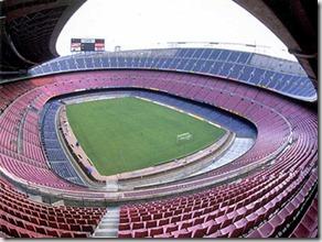 Camp Nou vacío