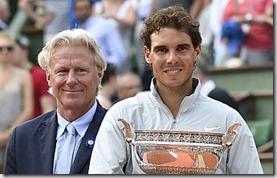 Rafa Nadal y Björn Borg