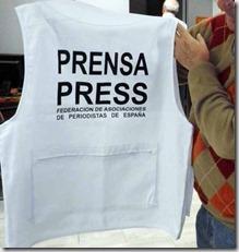 Chaleco periodistas