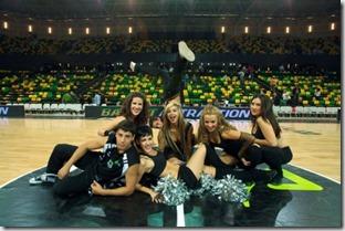 Cheerleaders Bilbao Basket, foto I. Andrés