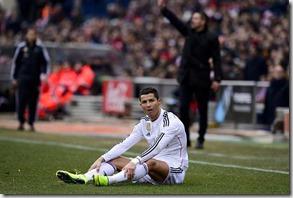 Cristiano Ronaldo, derbi Calderón, foto AP