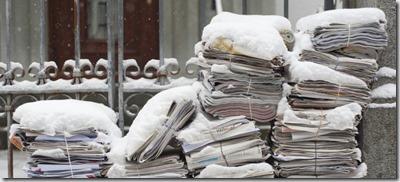 Periódicos nieve, Corbis