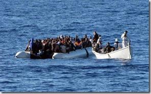 Inmigración, Libia, Gadafi